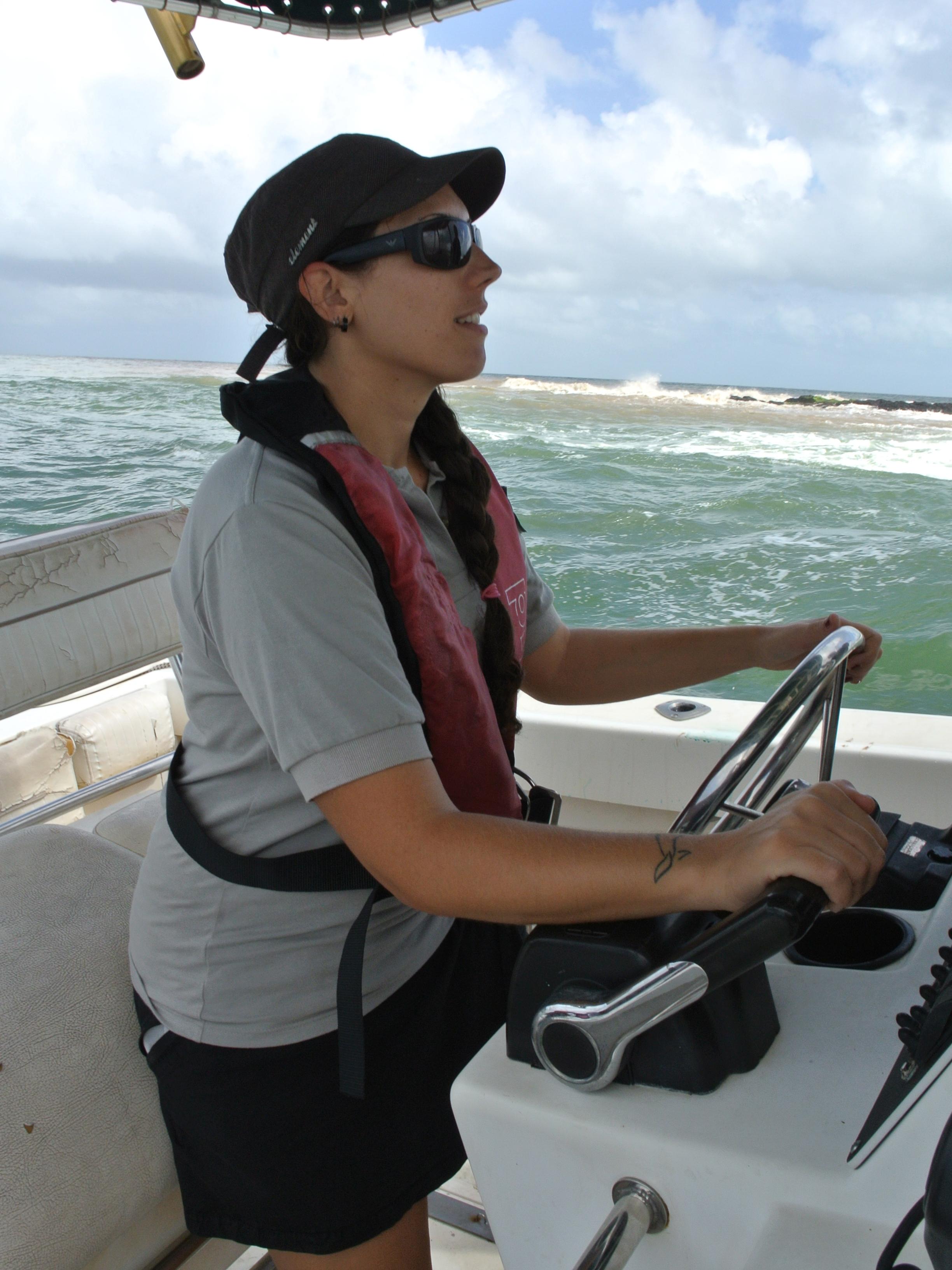 Amandine Bordin, Chargée de mission milieu marin à la Réserve (Crédits : RNNC)