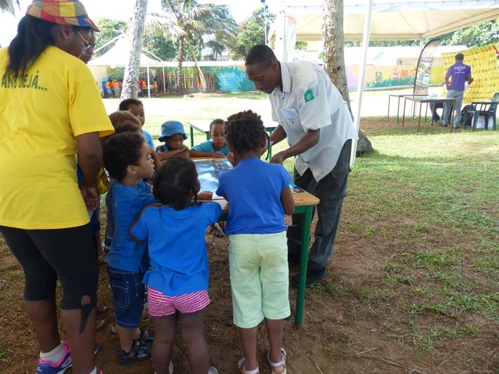 Journées animées à la Pointe Buzaré pour les centres aérés (Crédits : RNNC)